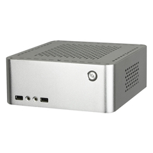 8000 itx computer case small aluminum small desktop computer case horizontal for ht pc computer case(China)