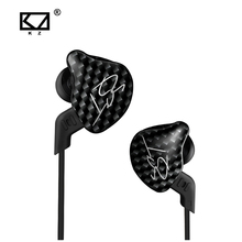 KZ ZST black Armature Dual Driver Earphone Detachable Cable In Ear Audio Monitors Noise Isolating HiFi Music Sports Earbuds(China)