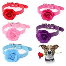 Pet Dog Cat Collar Necklace Jewelry Rose Decor For Medium Large Dog Supplies Collar Perro Collier Pour Chien(China)