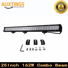 "NEW ITEMS FREE SHPPING 25""INCH 162W WATT COMBO Beam off road led light bar 12v waterproof led work lights for cars and truck(China)"