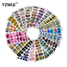YZWLE 20 Sheets 105mm x 60mm DIY Full Wraps Decals Nails Art Water Transfer Printing Stickers For Manicure Salon(China)