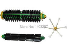 Bristle Brush and Flexible Beater Brush+ 6-armed Side Brush Replacement Brush for iRobot Roomba 500 510 530 560 570 580 Cleaner(China)