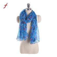 Feitong New Brand Women stole snud poncho 2017 Ladies Flowers Print Pattern Lace Long Scarf Warm Wrap Shawl Casual High Quality(China)
