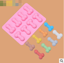 Wholesale 200PCS Originality Dick Shape mold Silicone Ice Cube Tray Mold Maker Ice Cream Mold Maker Ice Mould Free Fedex/DHL