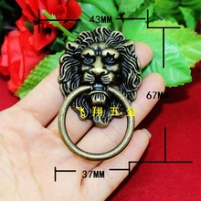 Free shipping Wholesale 10pcs Lions design Handles antique bronze Antique hardware knobs Vintage Pull drawer handles Box handle
