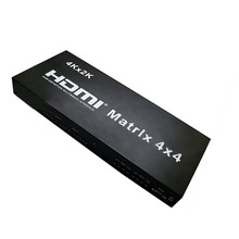 4Kx2K 4 In 4 Out HDMI Matrix Switcher With IR Remote Control 4x4 3D 1080p Video HDMI Splitter For HDTV DVD