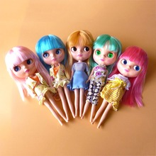 Free shipping 1/6 30cm BJD Bassara like Blyth dolls toys movable joints doll with hairs clothes stand