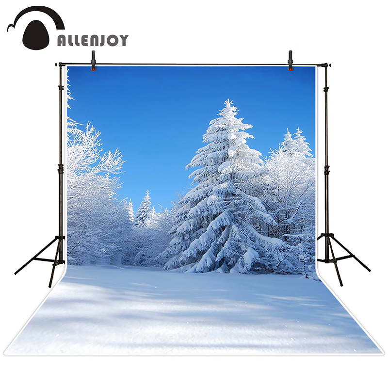 Allenjoy photographic background Snow tree snow sky backdrops princess kids summer Send rolled 10x10ft<br><br>Aliexpress
