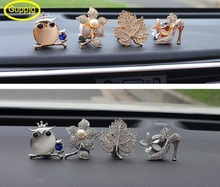 1 Piece Cartoon Car outlet perfume seat vent air freshener rose flower crown diamond owl swan Love heart styling air conditioner