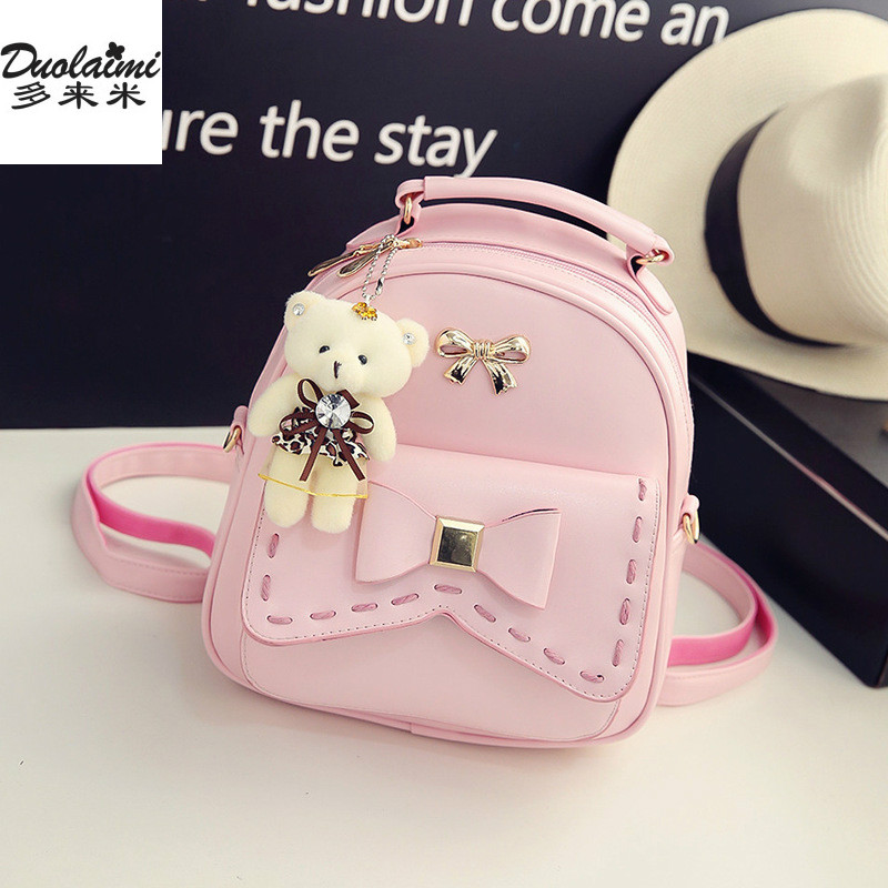 fashion women small backpack leather backpack travel bag school bag teenage girl korean female mini backpacks printing backpack<br>