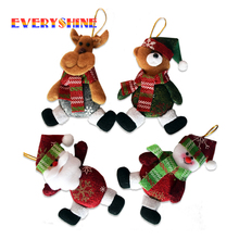 New Xmas Gifts Christmas Tree Hanging Ornaments Santa Claus Pendants Drop Decorations Home Length 11cm SD342 - EVERYSHINE Store store