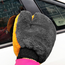 1pc Coral Fleece Car Wash Gloves Car Cleaning Care Mitt Lined With Waterproof Furniture Glass Dust Cleaner Washer YL893622