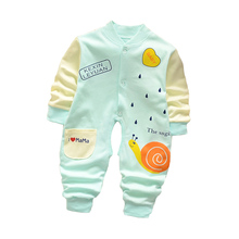 BibiCola Spring Newborn Baby Costumes Toldder Children Pajamas Long Sleeved Romper Jumpsuit Wear Baby clothes suit