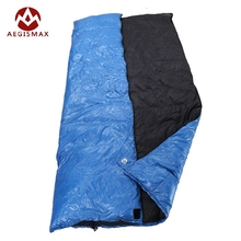 Aegismax Outdoor Envelope Sleeping Bag Splicing White Duck Down Single Sleeping Bag Camping Hiking Equipment Family Red Blue(China)