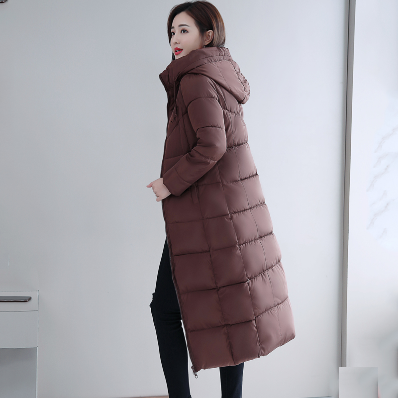 Plus Size 4XL 5XL 6XL womens Winter Jackets Hooded Stand Collar Cotton Padded Female Coat Winter Women Long Parka Warm Thicken 29