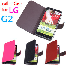 For LG G2 Case cover, Good Quality Leather Case + Hard Back Cover For LG G2 Cellphone