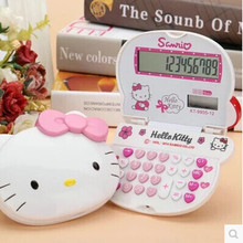FXSUM Hello Kitty Cartoon Folding Calculator Portable Computer with Bow for Girl Birthday Gift(China)
