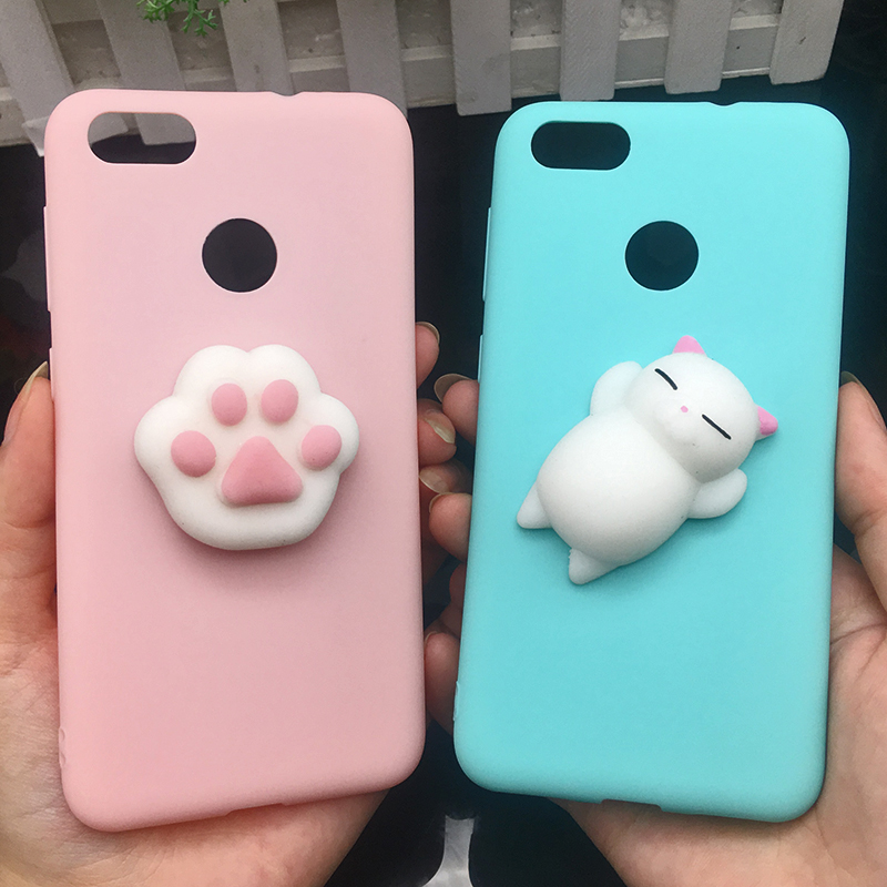3d Squishy Cat Silicon TPU Soft Cases For Huawei P20 lite P20 pro P9 lite mini 2017 Candy Color Back Cover Honor 8 lite P10 plus (17)