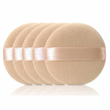 5PCS Woman Facial Soft Cotton Sponge Powder Puff Pads Face Foundation Makeup Cosmetic Tool Face Beauty NB438
