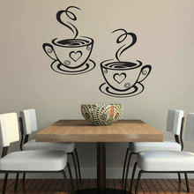 Furnishing Wall Sticker Decoration Hot Coffee Pattern Window Stickers For Kitchen Home Decoration