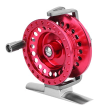 AT50 Aluminum Alloy 1:1 Speed Ratio Front Fishing Reel Fly Wheel Ice Fishing Tackle Adjustable Unloading Right Hand Red Reels(China)