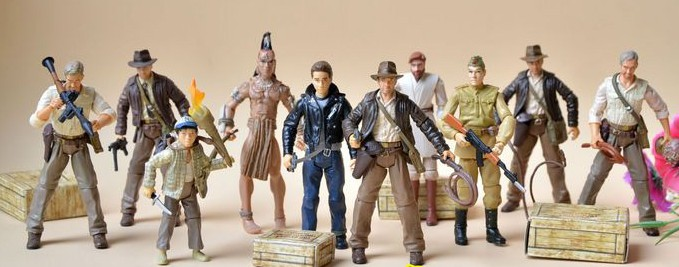 10pcs/set Indiana Jones models PVC handdone figure animation model doll gift toy<br><br>Aliexpress