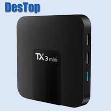 Tanix TX3 Android 7.1 Mini TV Box S905W Quad-core 2.4GHz WiFi Max 2G RAM 16GB ROM Media Player Support 4K Even 3D HD movies 50pc