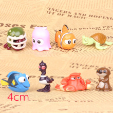2016 NEW hot 4CM Finding Nemo Toys 8 Pcs/Set Best action figure toys Cool Christmas gift doll(China)
