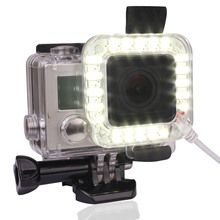 USB Rechargeable LED Light Ring Shooting Light Night Flash Video Fill Light USB Cable Connecting Band for GoPro Hero 3 / 3  / 4
