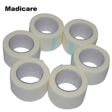 12 Rolls 2.5cm x 9.1m Paper Tape Medical First Aid Non woven Sugical Tape Adhesive Wound Dressings(China)