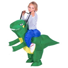 Riding Dragon Inflatable Costume Child Dragon Rider Costume Hallween Party Costumes Fancy Dress Funny Costume Free Size for Kids