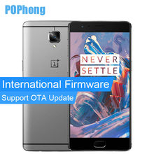 International Firmware Oneplus 3 Three Oxygen OS 6GB RAM Mobile Phone Snapdragon 820 Quad Core 64GB ROM 5.5 inch Dual SIM 16MP