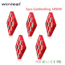 5pcs winleaf S9 1890W Grow Lights Full Spectrum LED Double Chips diode lighting lamp Hydroponics Greenhouse Plants Veg and Bloom(China)