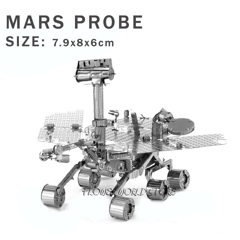 New creative Mars Rover 3D puzzles 3D metal model Creative DIY Wanderer No. Space vehicles Jigsaws Adult/Children gifts toys(China)