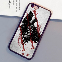 Game of Throne Cute Wolf Cool Printed Mobile Phone Cases For iPhone 6 6S Plus 7 7 Plus 5 5S 5C SE 4S Soft Rubber Back Cover