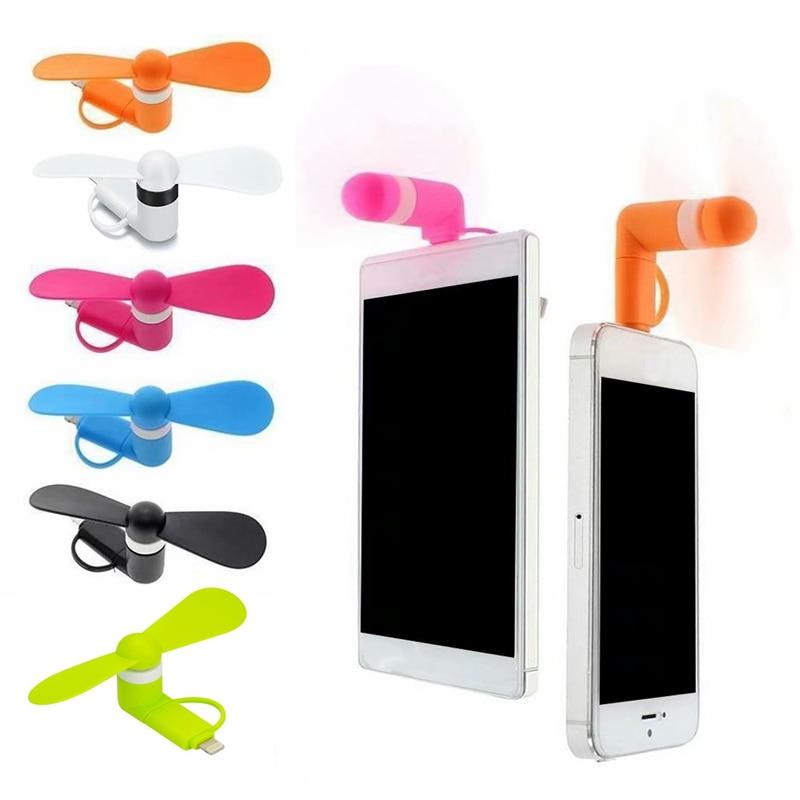 2 en 1 Mini USB Ventilateur Silencieux Pour Téléphone Mobile Gadget VENTILATEURS REFROIDISSEUR POUR iPhone Android