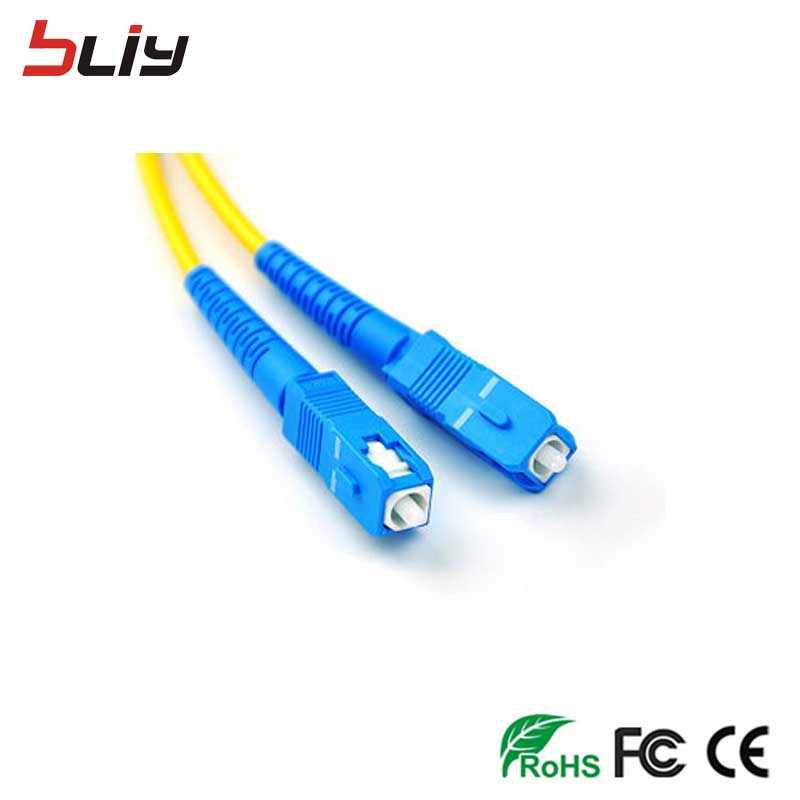 Free shipping 10pcs/bag SC-SC Optical Fiber cable Jumper SM SX 3mm 3M 9/125um 3 Meters SC/UPC Fiber Optic Patch Cord in Stock