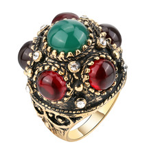 Buy YIMLOI Unique Antique Ring Thrones Game Retro Look Gold Color Punk Rock Rings Women & Men Vintage Jewelry Fashion Accessory for $1.95 in AliExpress store