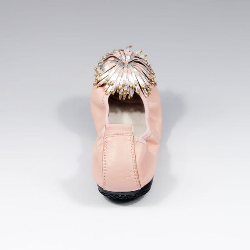 Women Shoes Flats Genuine Leather Women's Moccasins Tassel Slip On Female Footwear Pink Black Loafers Soft Leisure Ballet Flats (14)