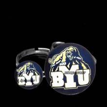 lovers couples RING Charms best gifts Brigham Young University NCAA BUY Charms fans jewelry Basketball Sports 2017 new fashion