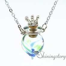 round perfume sample vials scent necklace aromatherapy jewelry diffusers miniature glass bottles pendant necklace wholesale