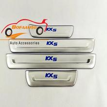 car styling for kia sportage kx5 accessories stainless steel door sill sills scuff plate pedals guard trim car sticker 2016 2017(China)