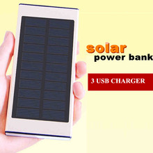 2016 Limited Portable Charger Selling Power Bank Portable Solar 3 Usb 2 Led External Battery Backup Powerbank for Mobile Phones