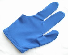 NEW 1pcs blue Pool snooker Billiard table glove 3-finger shooter One size fits all 86