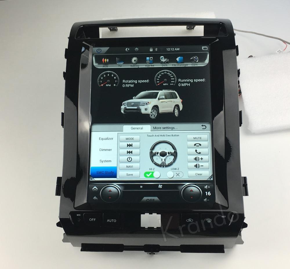 Krando tesla vertical screen land cruiser 2008-2015 Android car radio gps navigation multimedia system (5)