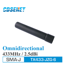2pc uhf Antenna 433MHz High Gain Omnidirectional CDSENET TX433-JZG-6 SMA Male 2.5dBi Omni Wifi Antennas for Communication(China)
