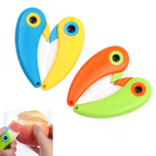 Mini Pocket Pare Bird Vegetable Cutlery Blade Ceramic Kitchen Peel Fold cutter Picnic Lunch Knife Fruit Peeler Cut Slice bag box(China)