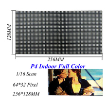 Indoor LED Screen Display P4 256*128MM 64*32 Pixel 1/16 Scan 3 in1 SMD2121 RGB Full Color LED Module Displays For LED Video Wall