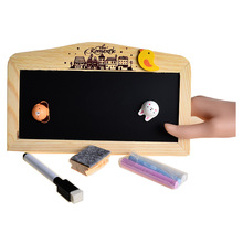 Small Magnetic Message Board Blackboard Whiteboard Double Sides with Chalk Hanger 14*22cm(China)