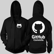 Octocat Github commits Linux Merb Ruby geek mascot Octopus Cat boys male man full zip hooded Cardigan(China)